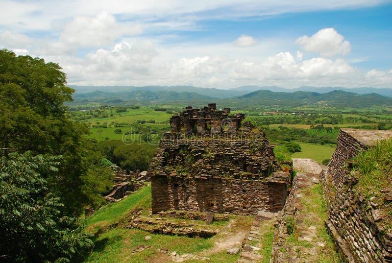 Mayaruinen, Tonina, Mexiko stockfotografie