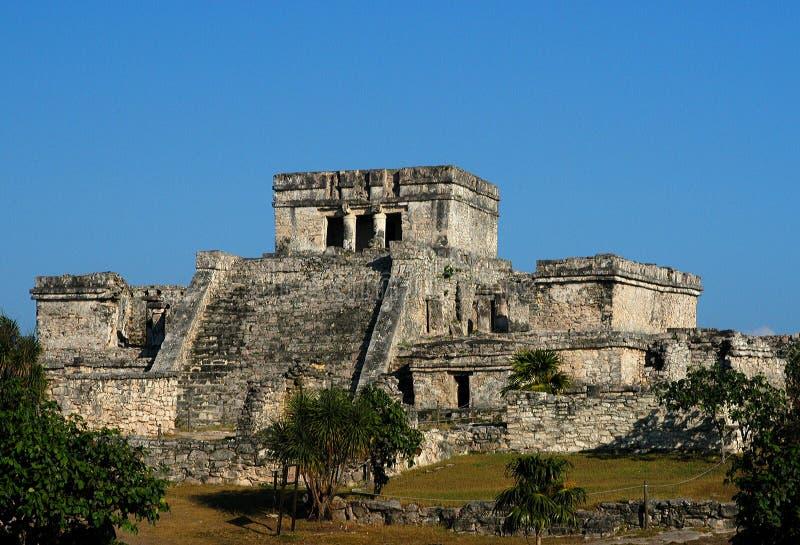 Mayaruinen, Tulum, Mexiko lizenzfreies stockbild