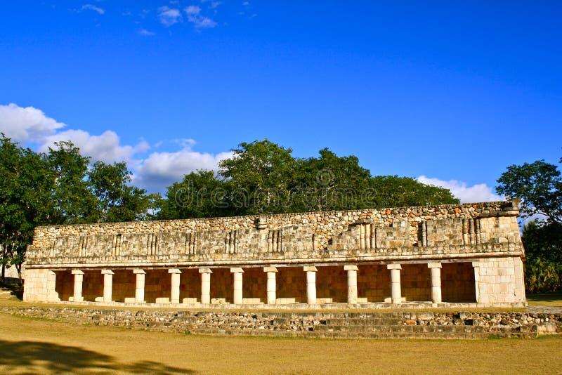 Mayaruinen, Uxmal, Yucatan, Mexiko lizenzfreie stockfotografie