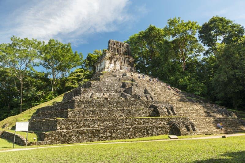 Mayatempel in Palenque lizenzfreie stockfotografie
