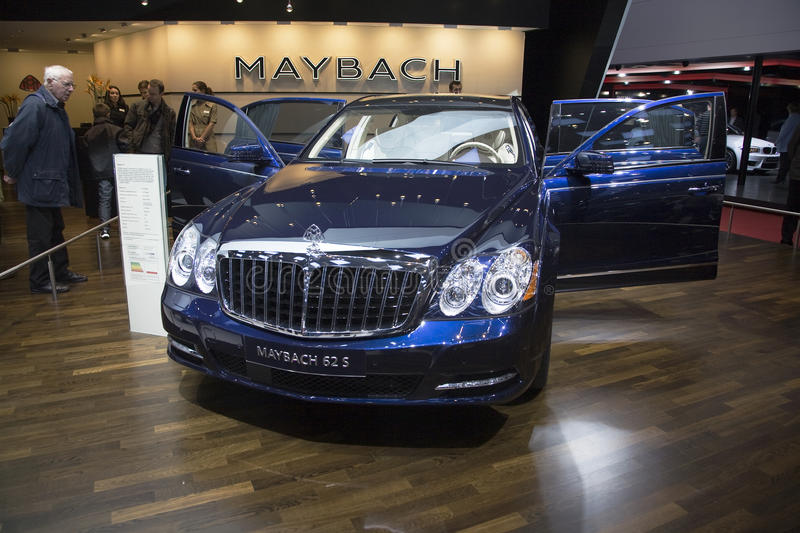 Maybach 62S. At the 2011 edition of the Geneva Motorshow. Photo taken on: March 04th, 2011 stock image