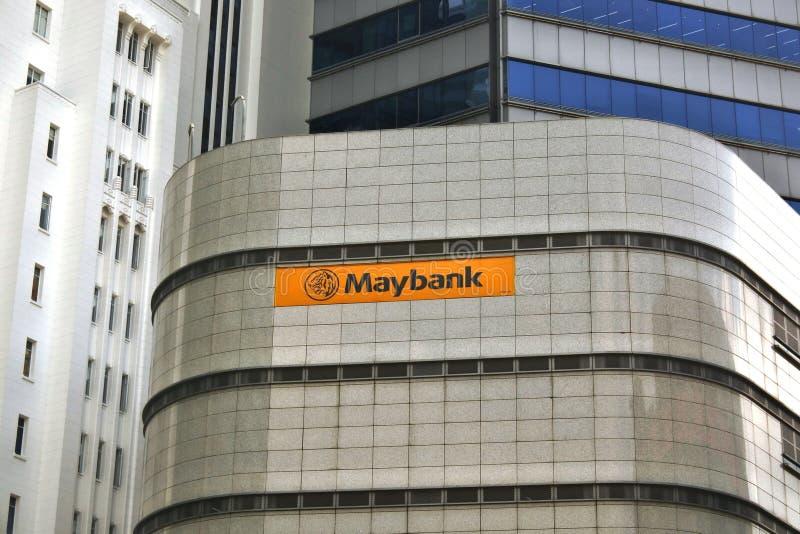 Maybank en el centro del complejo de negocios singapur imagen de archivo libre de regalías