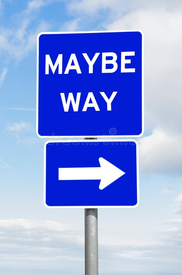 Download Maybe Way Direction Signpost Sky Stock Image - Image of choose, direction: 109496569