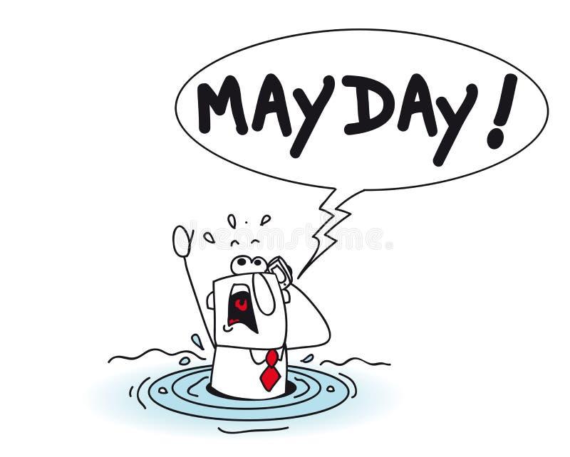 mayday ilustração stock