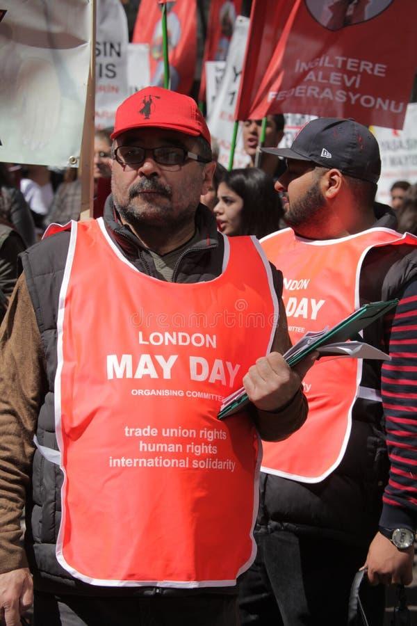 Mayday de Londres photographie stock libre de droits