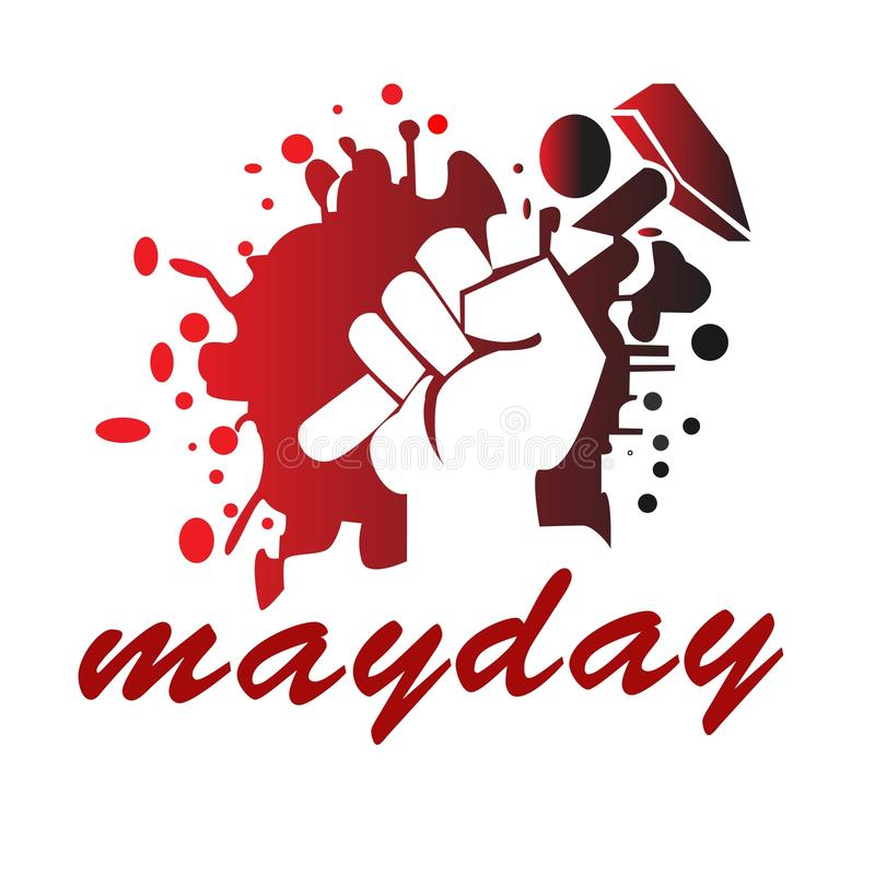 Mayday illustration vector stock photo