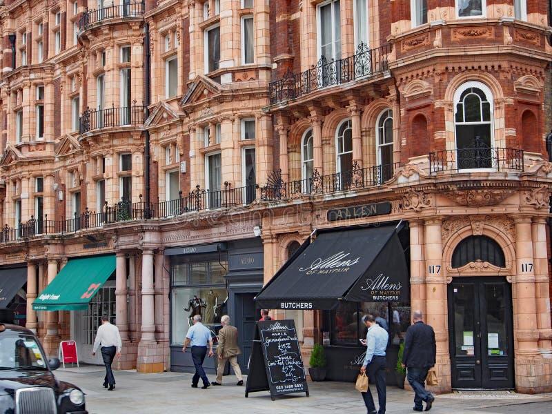 Mayfair die, Londen winkelen royalty-vrije stock afbeelding
