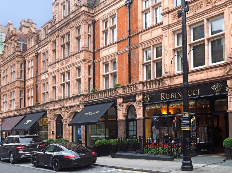 Mayfair område av London royaltyfri foto