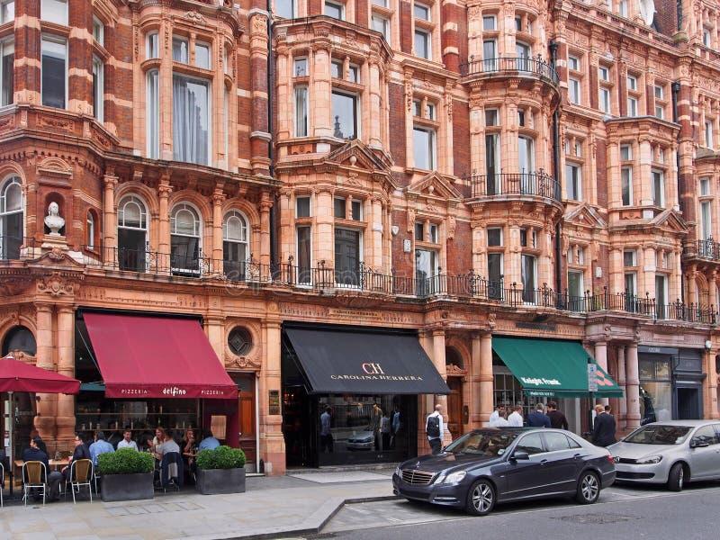 Mayfair område av London fotografering för bildbyråer