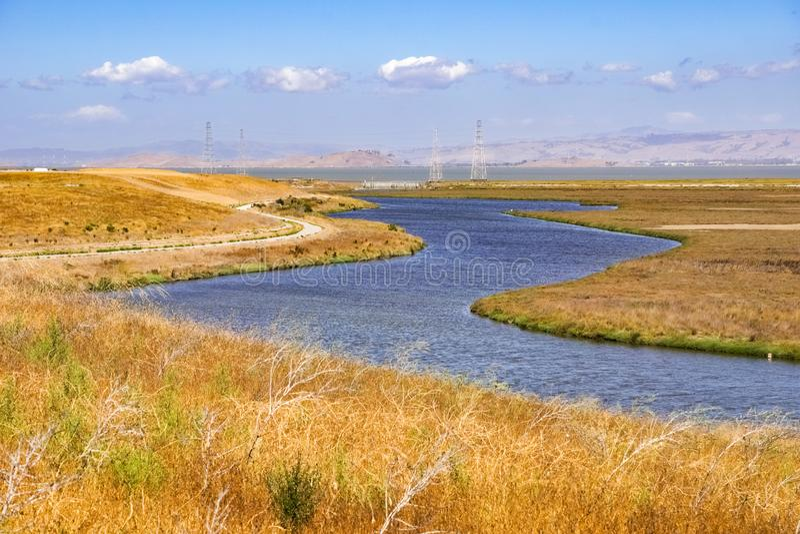 Mayfield泥沼,南旧金山湾区,帕洛阿尔托,加利福尼亚 库存图片