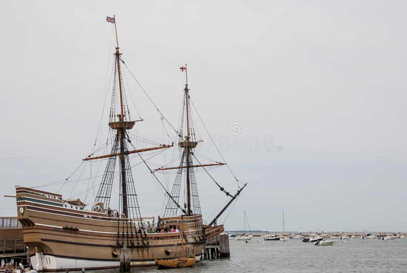 Mayflower Dokował W Plymouth obraz royalty free