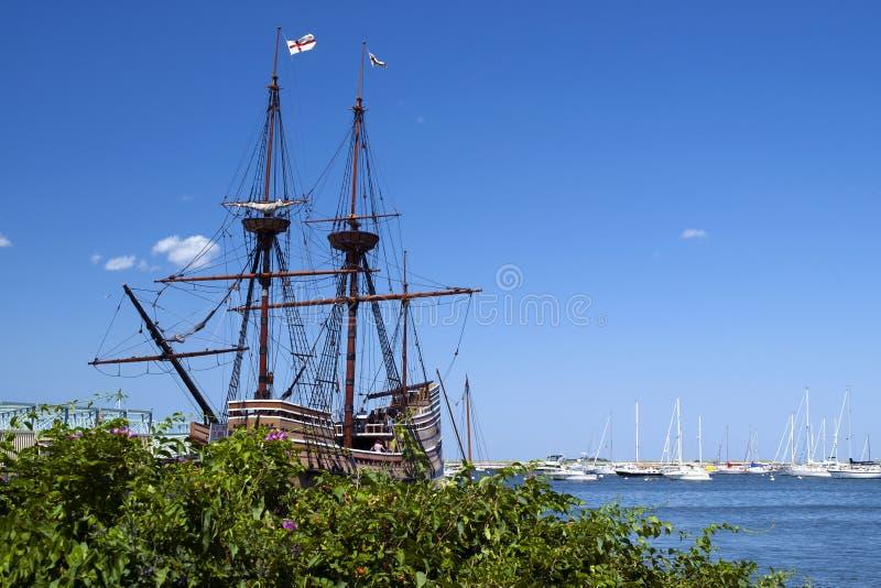 Mayflower II is Popular Massachusetts Attraction stock image
