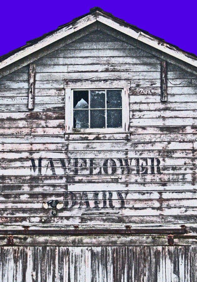 Mayflower Zuivelschuur in Fredrickson Washington stock foto