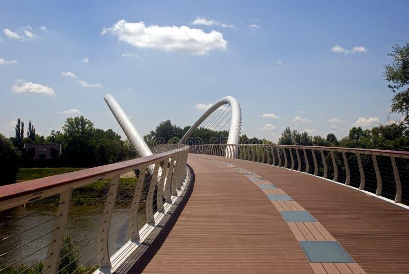 Mayfly-Brücke, Szolnok, Ungarn lizenzfreie stockbilder