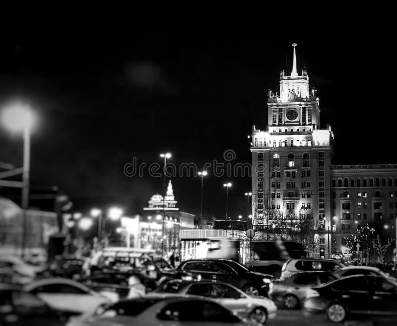 Maykovskaya. Garden ring. Moscow. Night royalty free stock photography