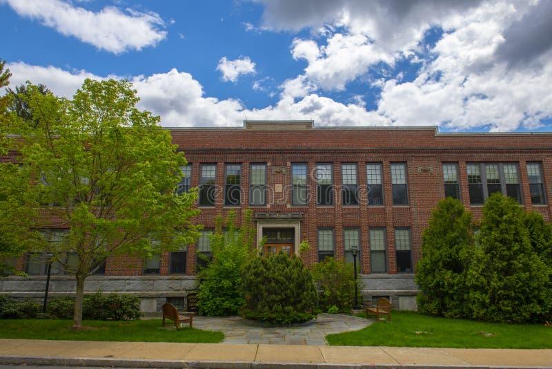 Maynard Public Library, Maynard, Massachusetts (Estados Unidos de América) imagenes de archivo