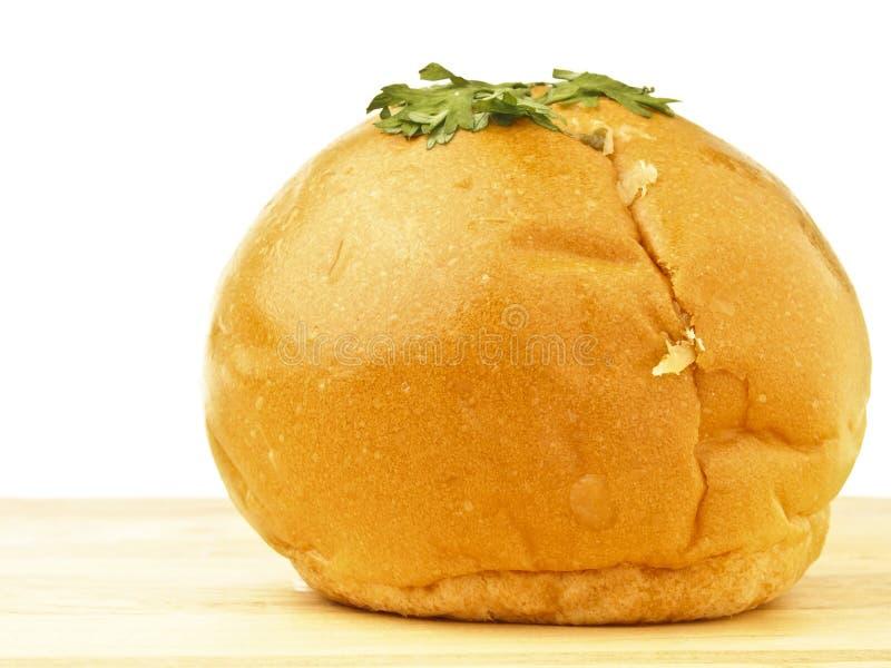 Mayo Bread On Wood Stock Photos