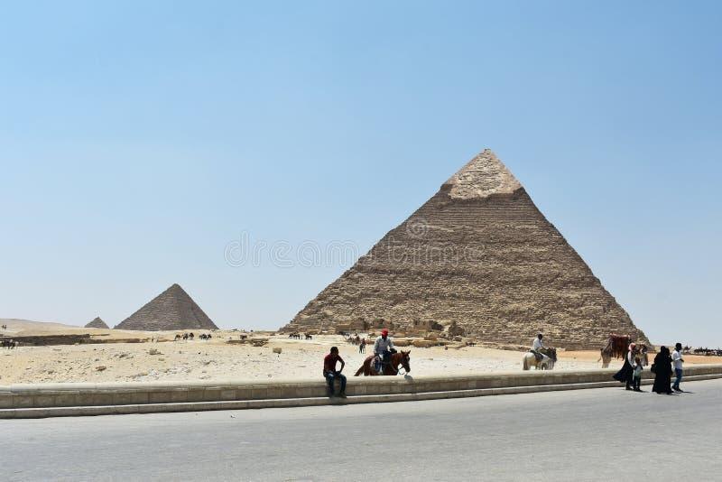 Mayo, 6, 2019 Las pir?mides de Giza, El Cairo, Egipto imagen de archivo