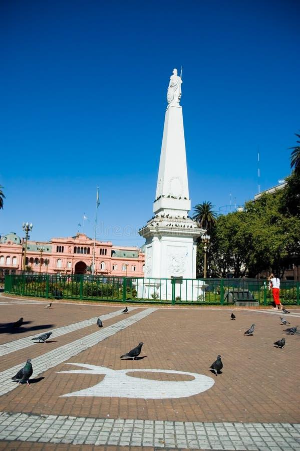 Mayo pyramid Buenos Aires. Mayo pyramid in may sqare, Buenos Aires, Argentina royalty free stock image