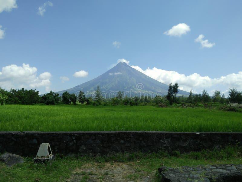 Mayon parfait Albay de mt de cône image stock