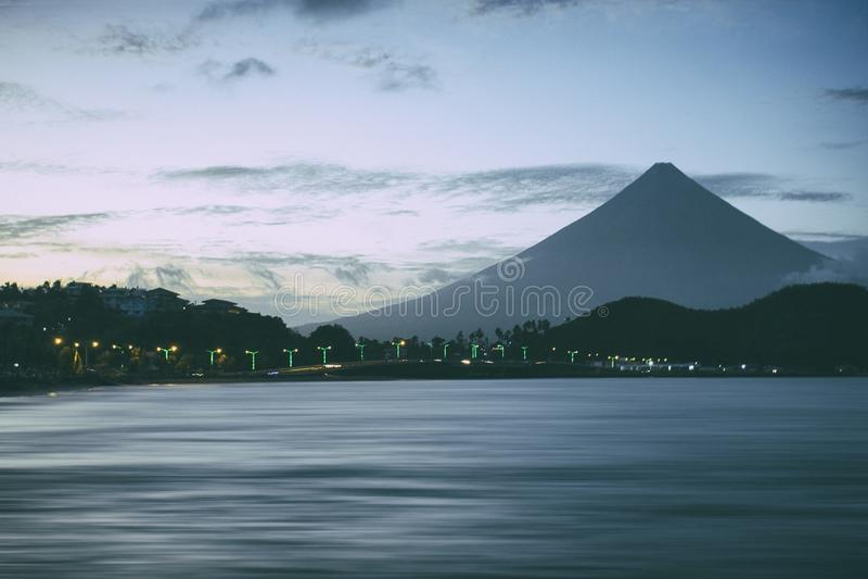 Mayon Volcano stock image