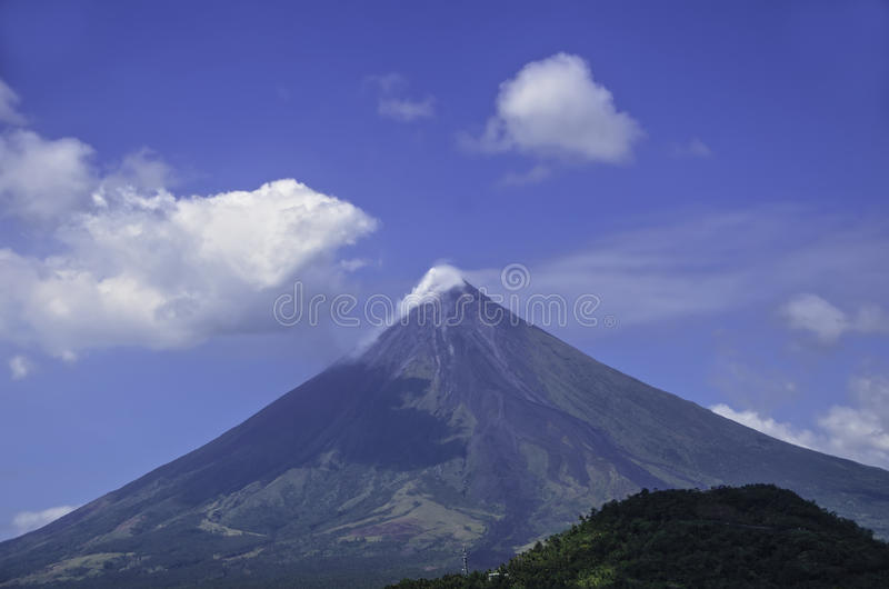 Mayon Vulkan stockbild