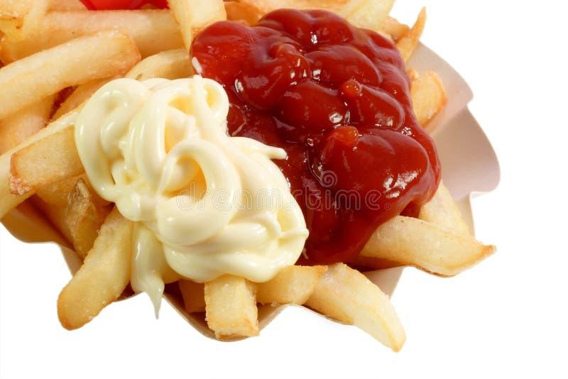 mayonaise快餐 免版税库存图片