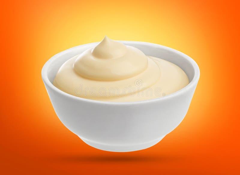 Mayonnaise dans la cuvette images libres de droits