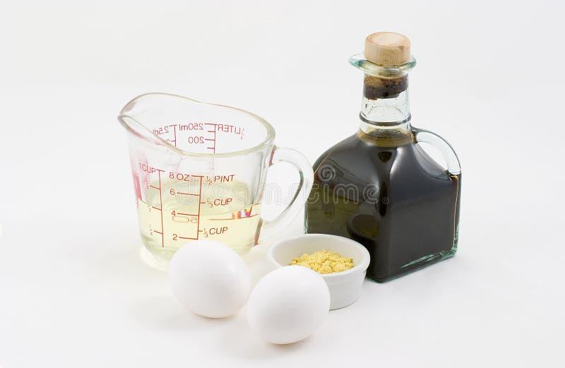 Mayonnaise ingredients royalty free stock image