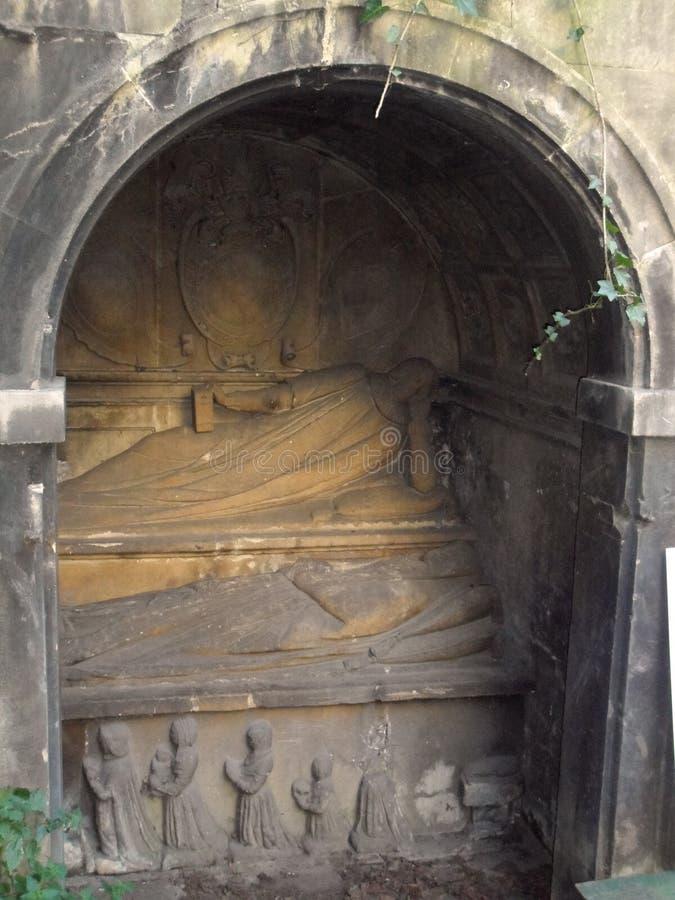 Mayor of Bristol Monument at St John's Burial Ground stock image