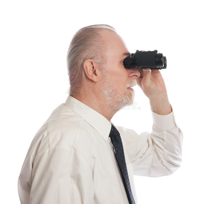 Mayor con el ocular imagen de archivo