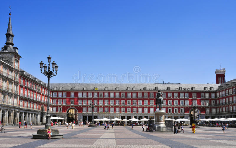 Mayor da plaza em Madrid, Spain imagem de stock royalty free