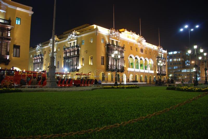 Mayor da plaza - Lima, Peru foto de stock royalty free