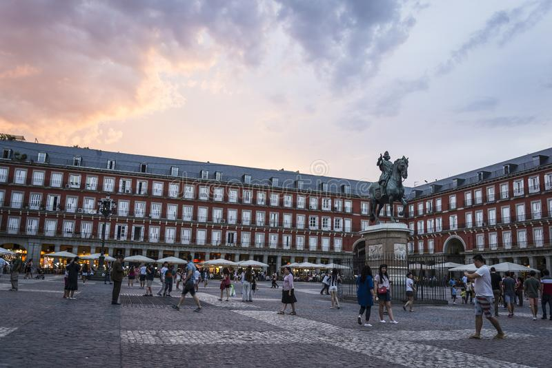 Mayor da plaza, Madrid, Spain imagem de stock royalty free