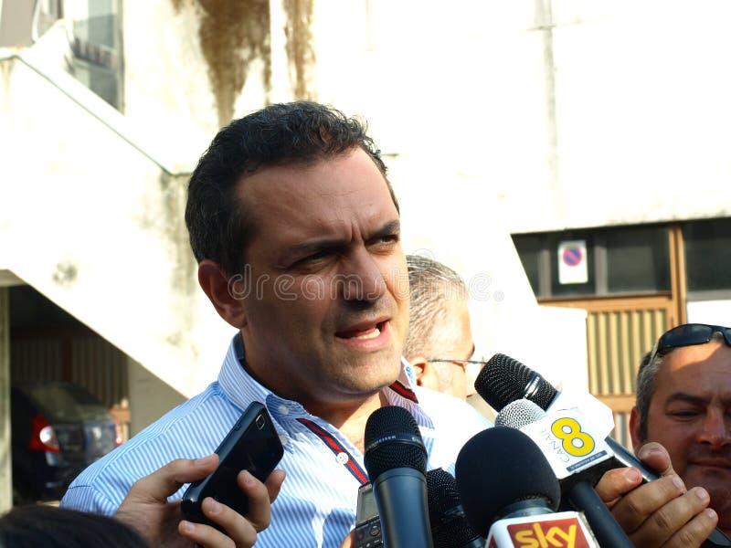 Download Mayor De Magistris In Scampia  - Naples Editorial Stock Image - Image: 24277454