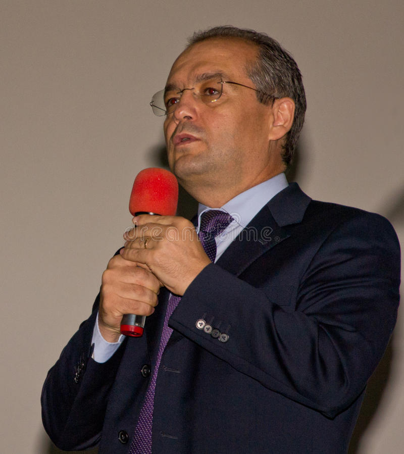 Mayor Emil Boc at the Comedy Cluj Opening