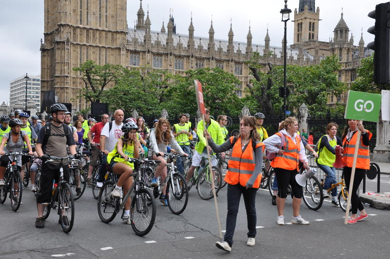 Mayor Of London S Skyride Cycling Event In London, England Editorial Stock Image
