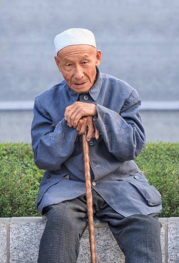 Mayor musulmán en un parque, Pekín, China imagen de archivo libre de regalías