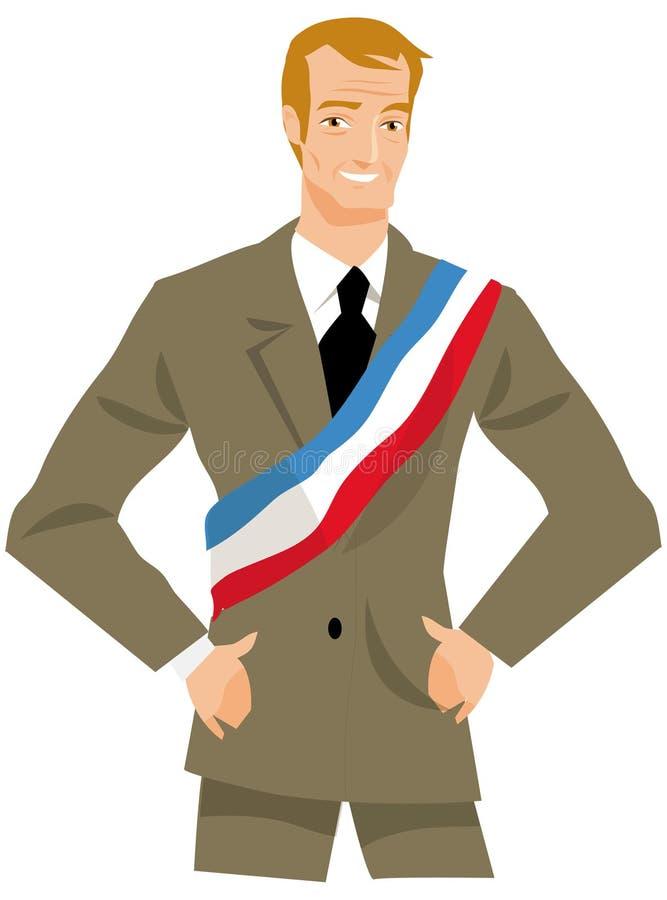 Mayor ou político ilustração royalty free