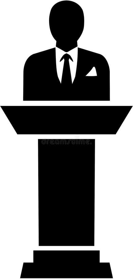 Mayor piktograma wektor ilustracja wektor