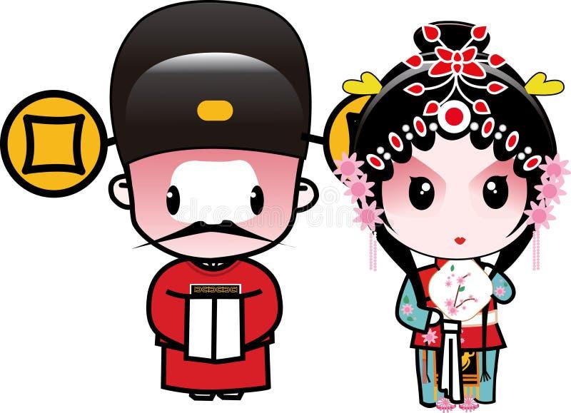 Mayor's wedding. An admiring couple of scholar and princess vector illustration