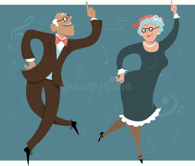Mayores del baile ilustración del vector