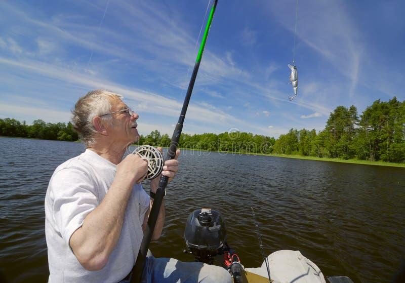 Mayores del pescador foto de archivo libre de regalías