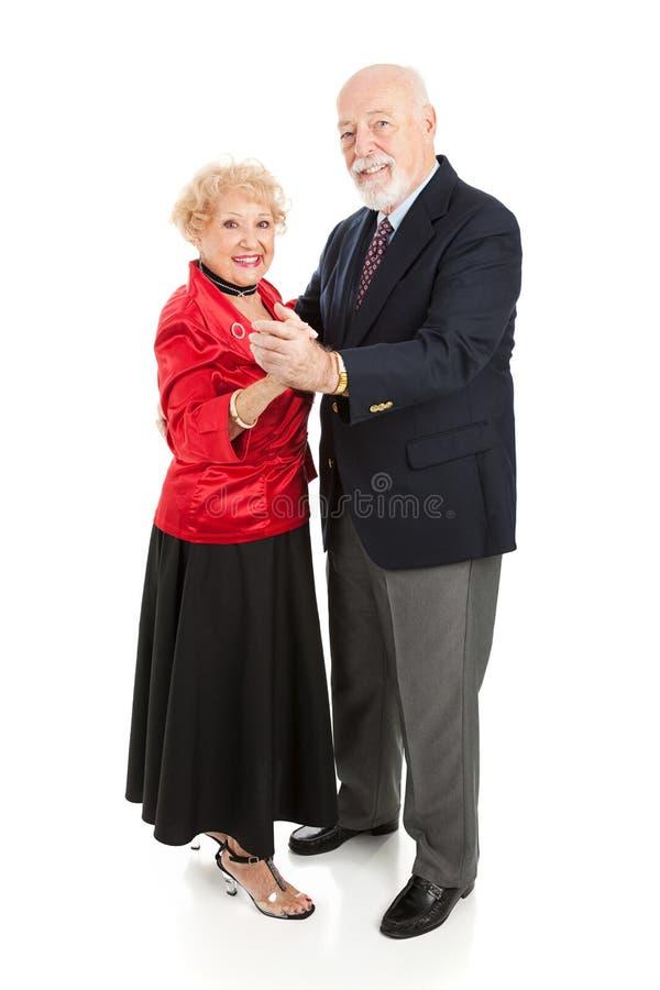 Mayores felices del baile imagen de archivo