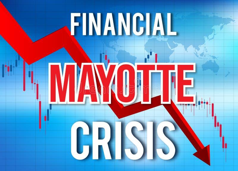 Mayotte Financial Crisis Economic Collapse Market Crash Global Meltdown. Illustration royalty free illustration