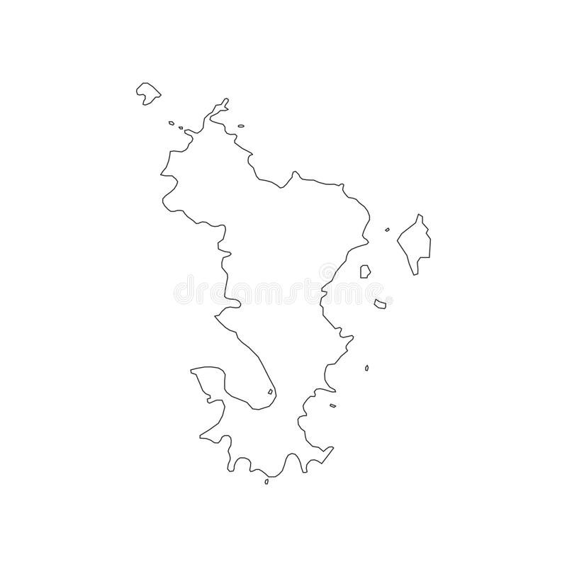 Mayotte map outline stock vector Illustration of nation 95014776