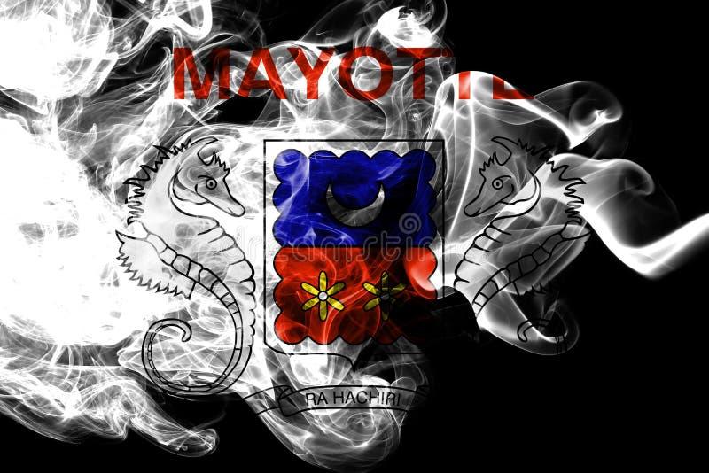 Mayotte rökflagga, Frankrike beroende territoriumflagga royaltyfri illustrationer
