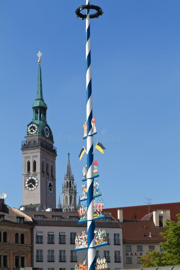 Maypole bávaro em Munich imagem de stock royalty free
