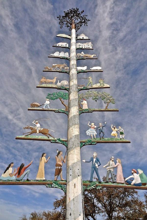 Maypole de Fredericksburg, Texas foto de stock
