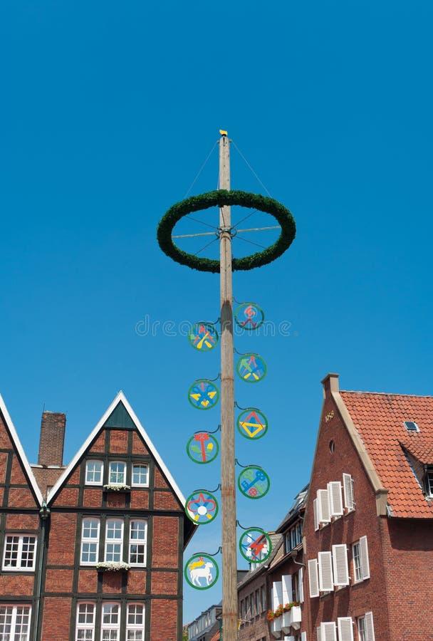 Maypole a Munster, Germania fotografie stock